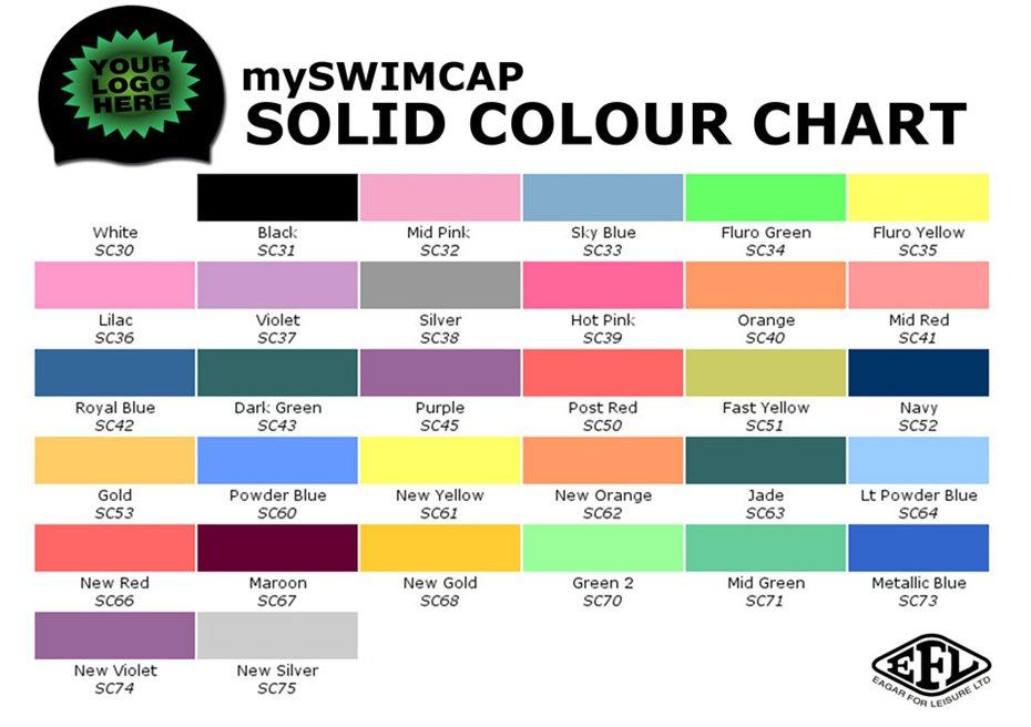 MySwimcap colour chart